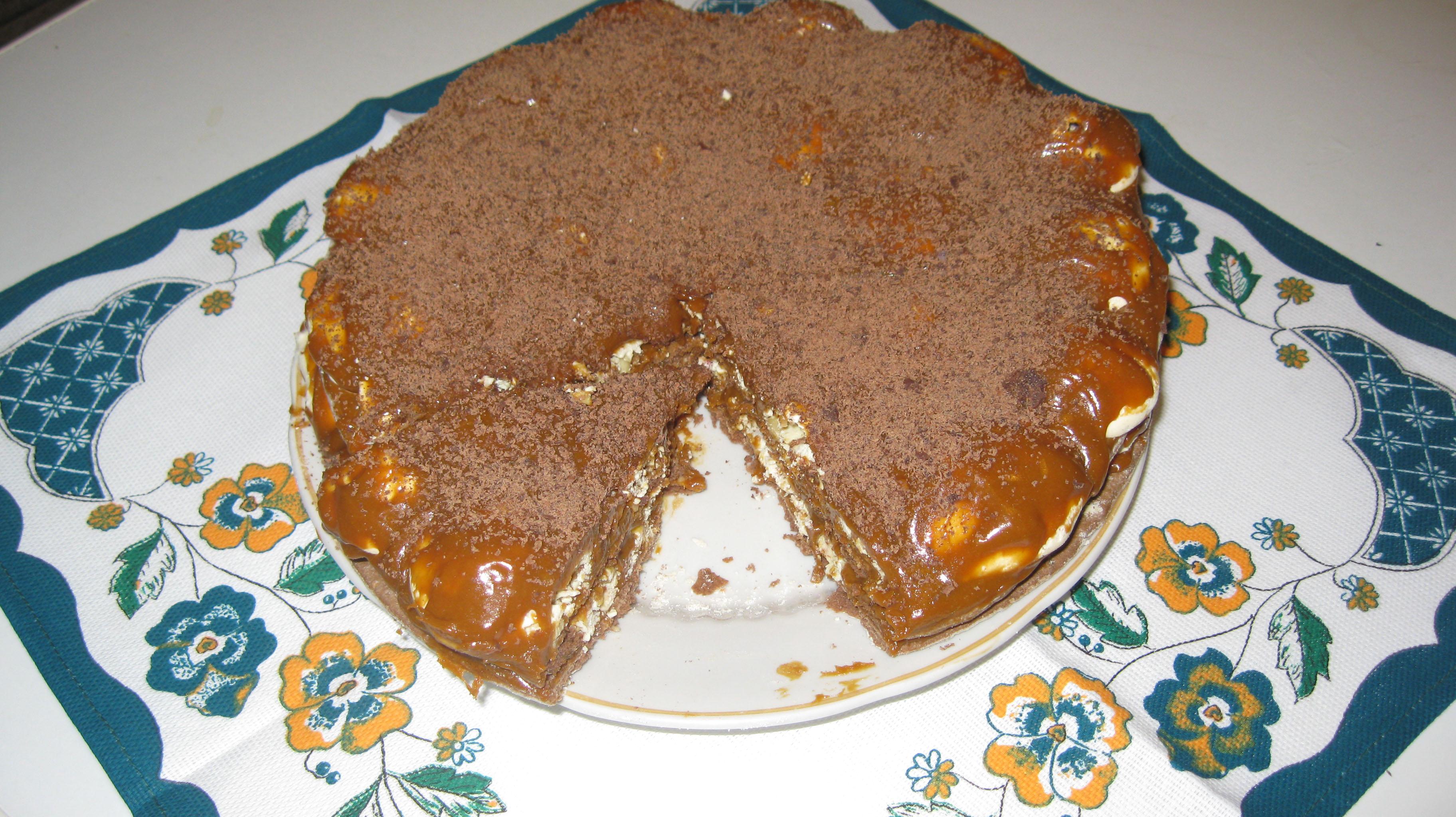 Торт из готовых бисквитных коржей 64