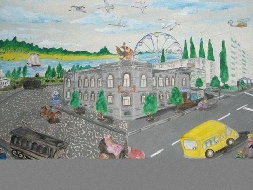 рисунки на тему мой город: