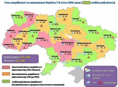 В Полтавской области за сутки в ДТП 1 человек погиб и 3 получили травмы