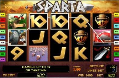 Бесплатные автоматы Sparta