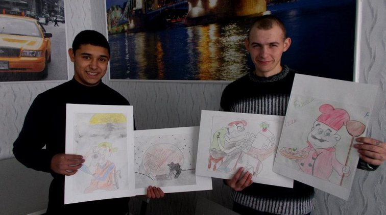 Воспитанники Кременчугской воспитательной колонии нарисовали профессии своей мечты