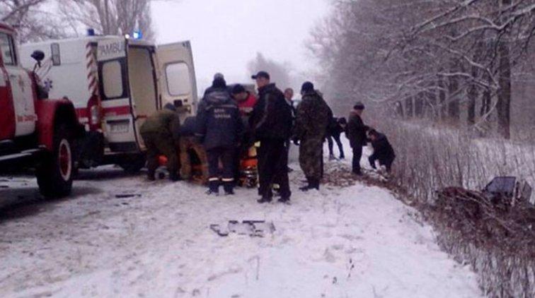На трассе Полтава — Александрия столкнулись 3 автомобиля, есть пострадавшие