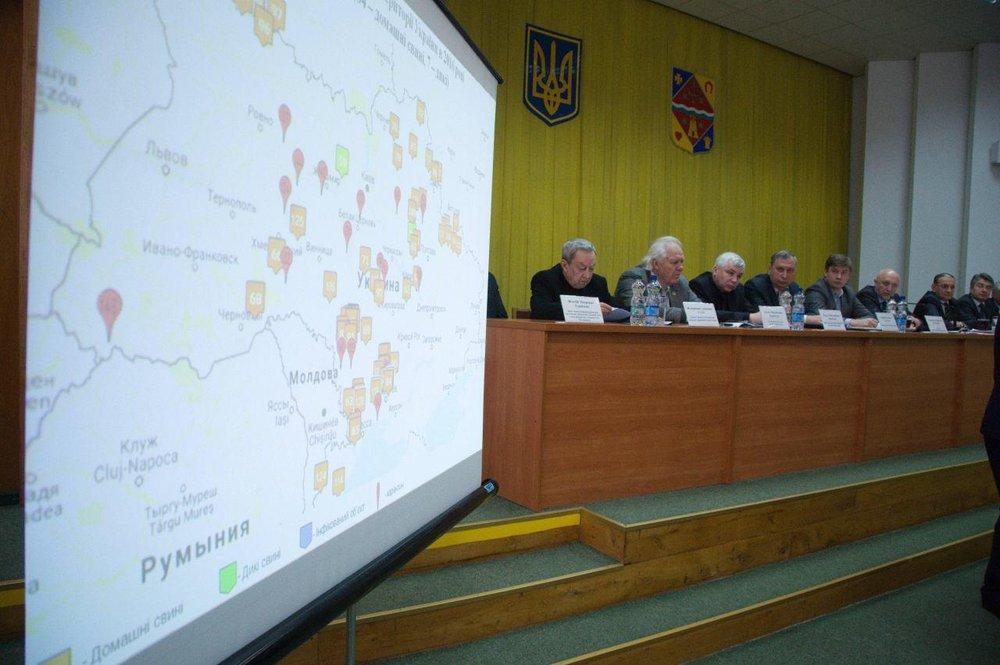 ВУкраинском государстве затри дня вспышки АЧС отмечены еще вчетырех областях