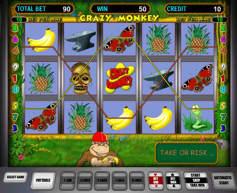 Игровые автоматы бешеная обезьяна