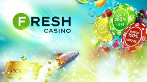 Стартовый пакет во Fresh Casino: бесплатные спины и деньги за регистрацию